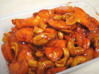35________chicken with cashewnuts in yellow bean sauce