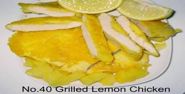 40L________grilled lemon chicken with LEMON sauce